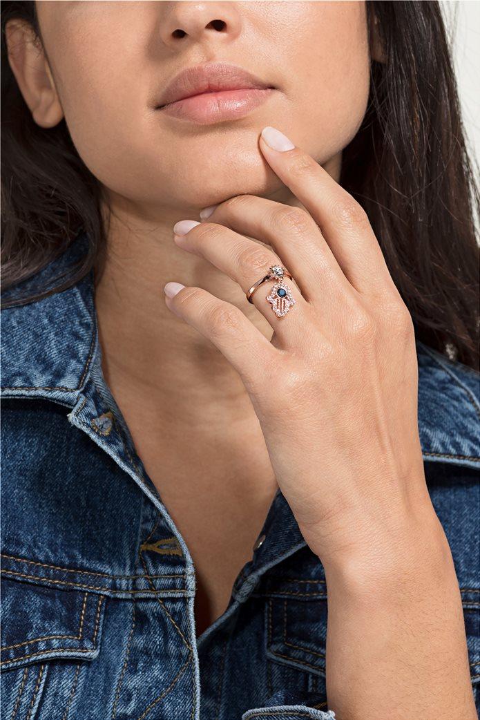 Swarovski Symbolic Motif Ring, Rose-gold tone plated Size 55 1