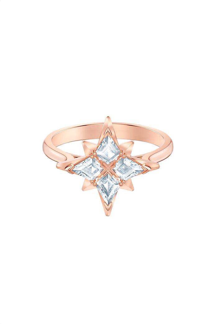 Swarovski Symbolic Star Motif Ring, Rose-gold tone plated Size 52 1