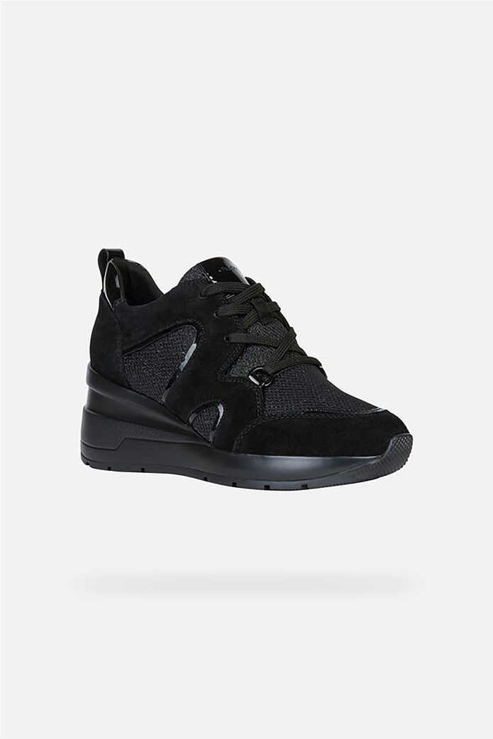 Geox γυναικεία δετά sneakers με ψηλή σόλα 0