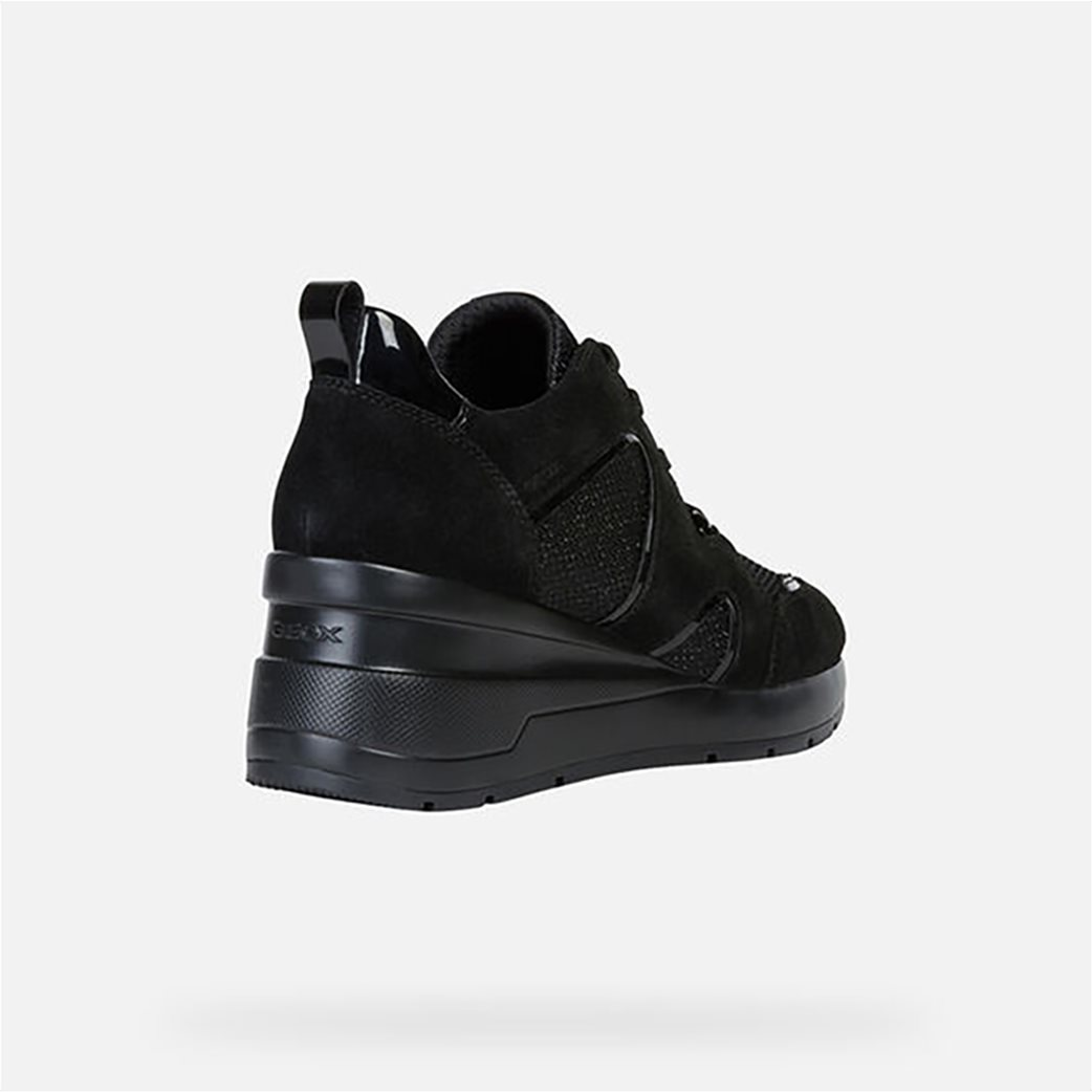 Geox γυναικεία δετά sneakers με ψηλή σόλα 1