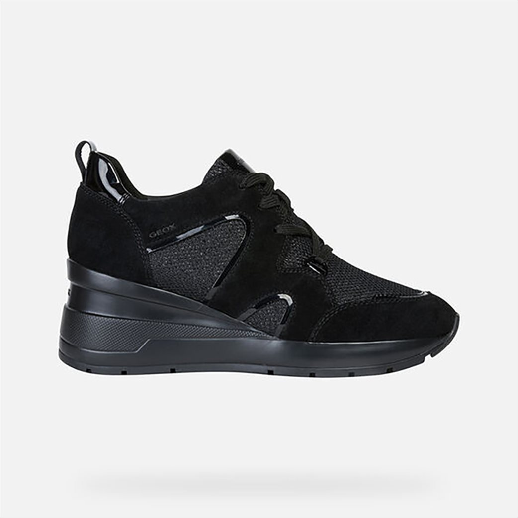 Geox γυναικεία δετά sneakers με ψηλή σόλα 2