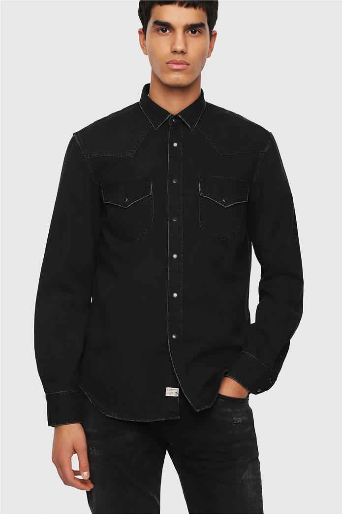 Diesel ανδρικό τζην πουκάμισο East P 0