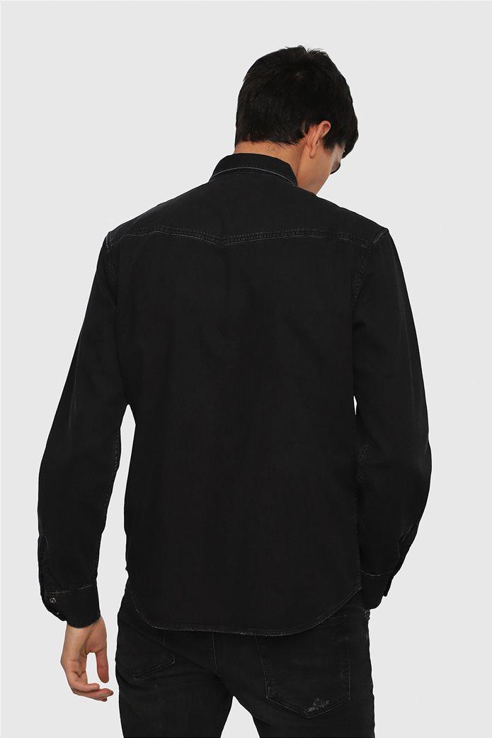 Diesel ανδρικό τζην πουκάμισο East P 2