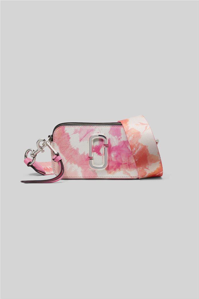 "Marc Jacobs γυναικείο δερμάτινο mini bag ""The Tie Dye Snapshot"" Ροζ 0"