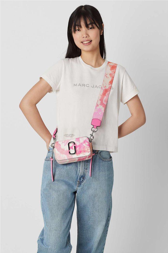 "Marc Jacobs γυναικείο δερμάτινο mini bag ""The Tie Dye Snapshot"" Ροζ 1"