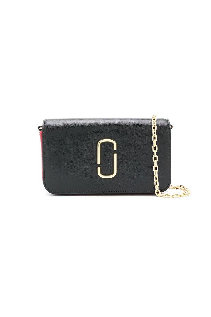 "Marc Jacobs γυναικεία τσάντα crossbody με μεταλλικό logo ""Snapshot"" Μαύρο 0"