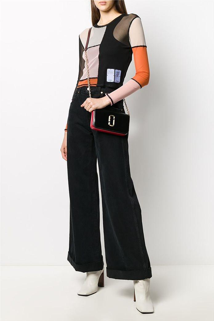 "Marc Jacobs γυναικεία τσάντα crossbody με μεταλλικό logo ""Snapshot"" Μαύρο 1"