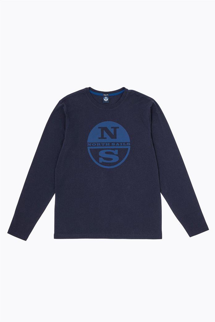 North Sails ανδρική μπλούζα μακρυμάνικη με logo print 0
