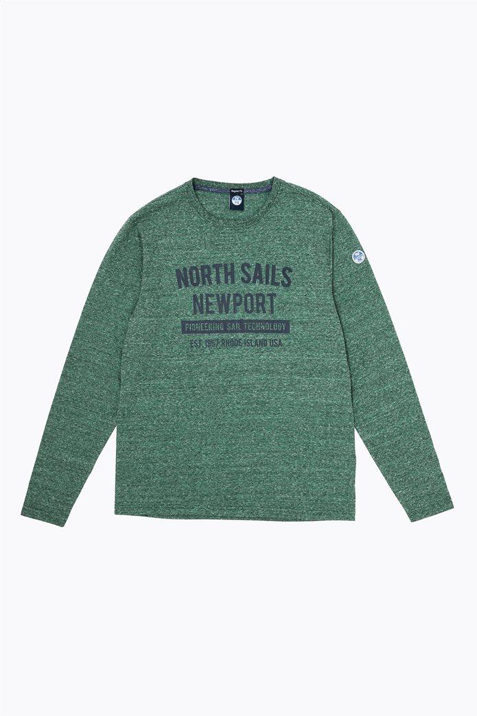 North Sails ανδρική μπλούζα μακρυμάνικη με logo letter print 2
