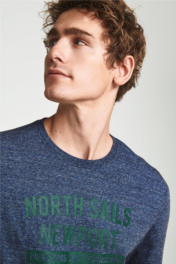 North Sails ανδρική μπλούζα μακρυμάνικη με logo letter print 1