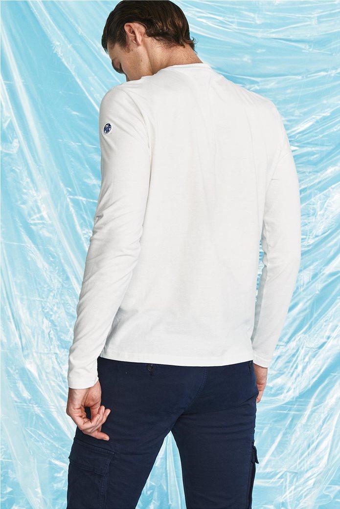 North Sails ανδρική μπλούζα μακρυμάνικη με logo print 3