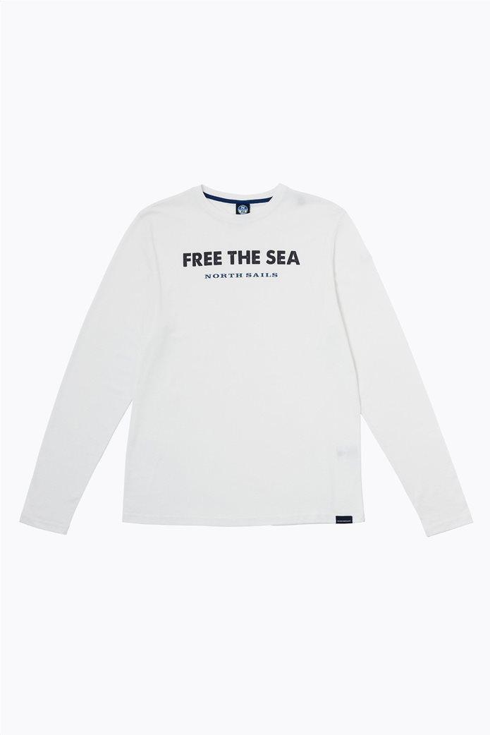 North Sails ανδρική μπλούζα μακρυμάνικη με logo print 4