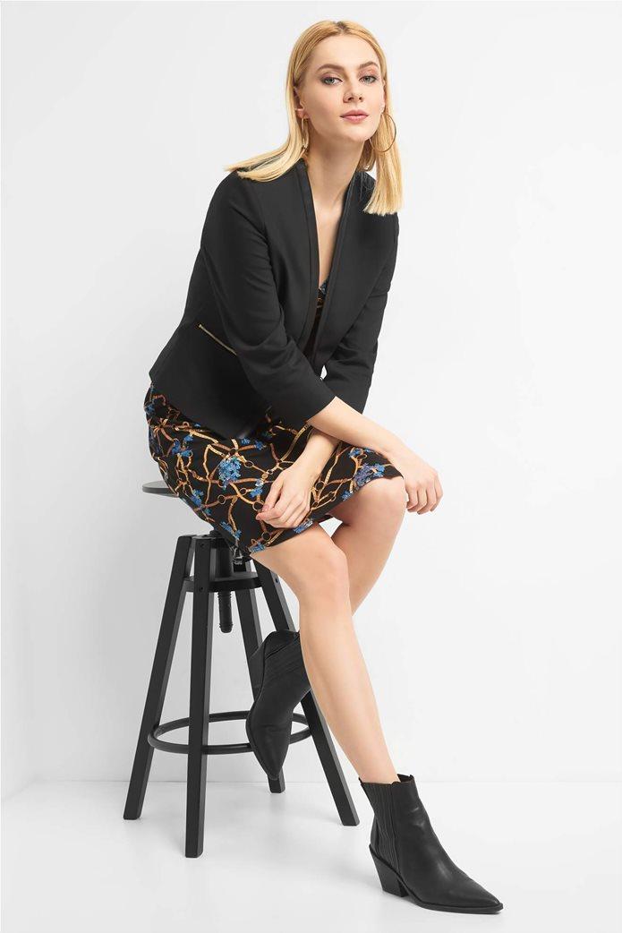 Orsay Γυναικείο σακάκι μονόχρωμομε φάσα faux leather 0