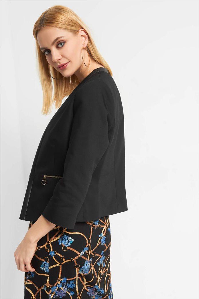 Orsay Γυναικείο σακάκι μονόχρωμομε φάσα faux leather 2