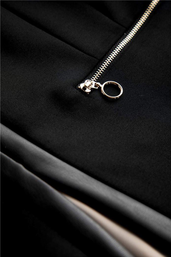Orsay Γυναικείο σακάκι μονόχρωμομε φάσα faux leather 3
