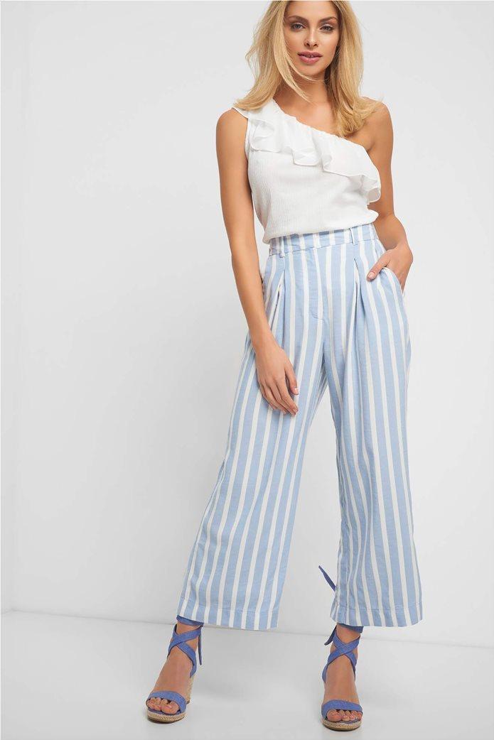 Orsay γυναικεία παντελόνα ριγέ cropped 0