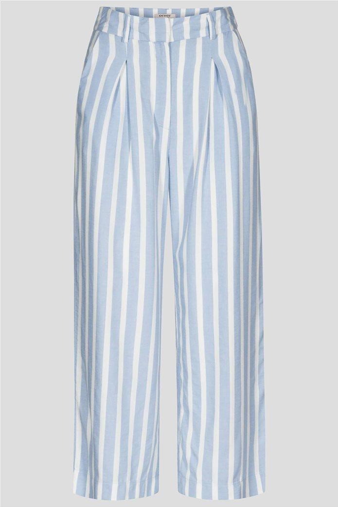 Orsay γυναικεία παντελόνα ριγέ cropped 2