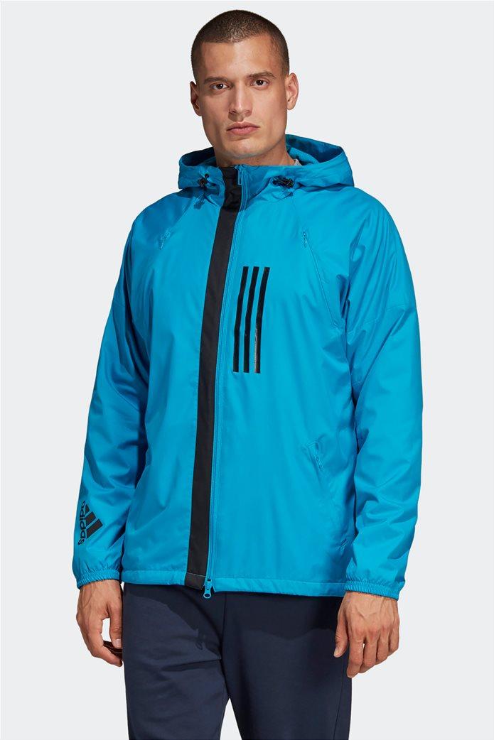 Adidas ανδρικό jacket με κουκούλα  ID WND Jacket Fleece-Lined 0