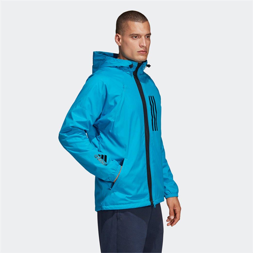 Adidas ανδρικό jacket με κουκούλα  ID WND Jacket Fleece-Lined 3
