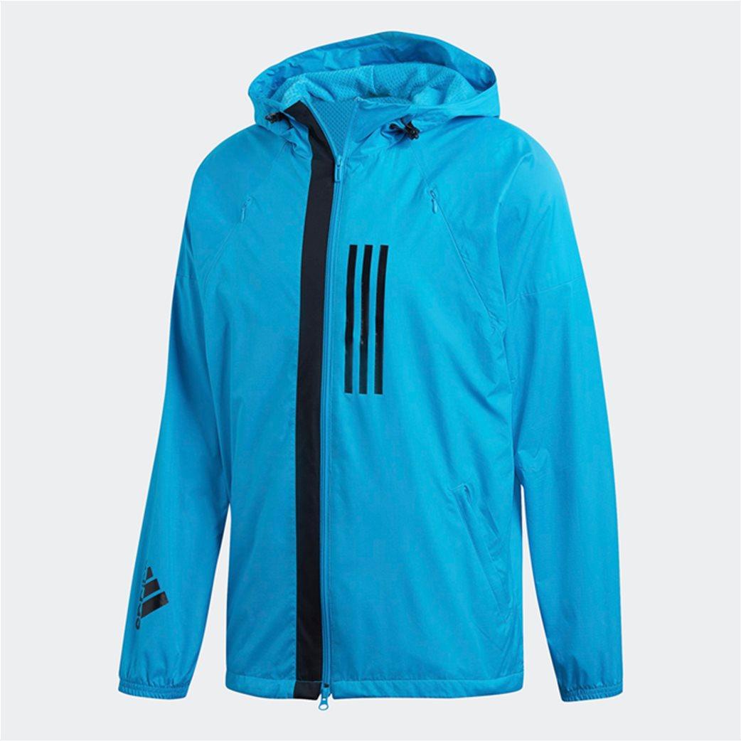 Adidas ανδρικό jacket με κουκούλα  ID WND Jacket Fleece-Lined 5