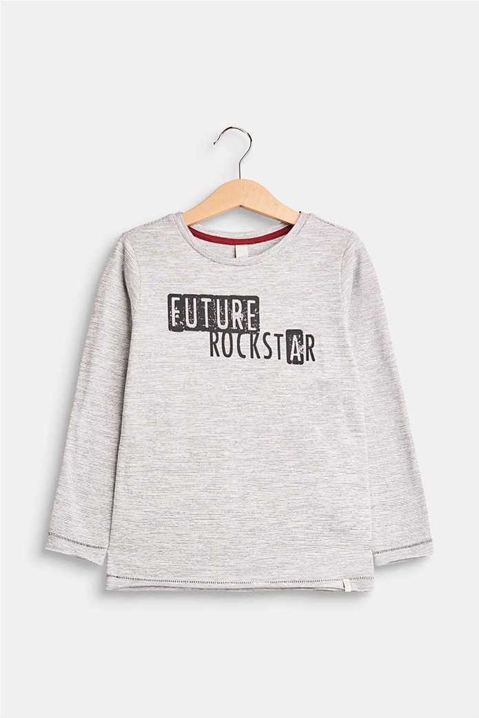 Esprit παιδικό μακρυμάνικο μπλουζάκι με logo print 0