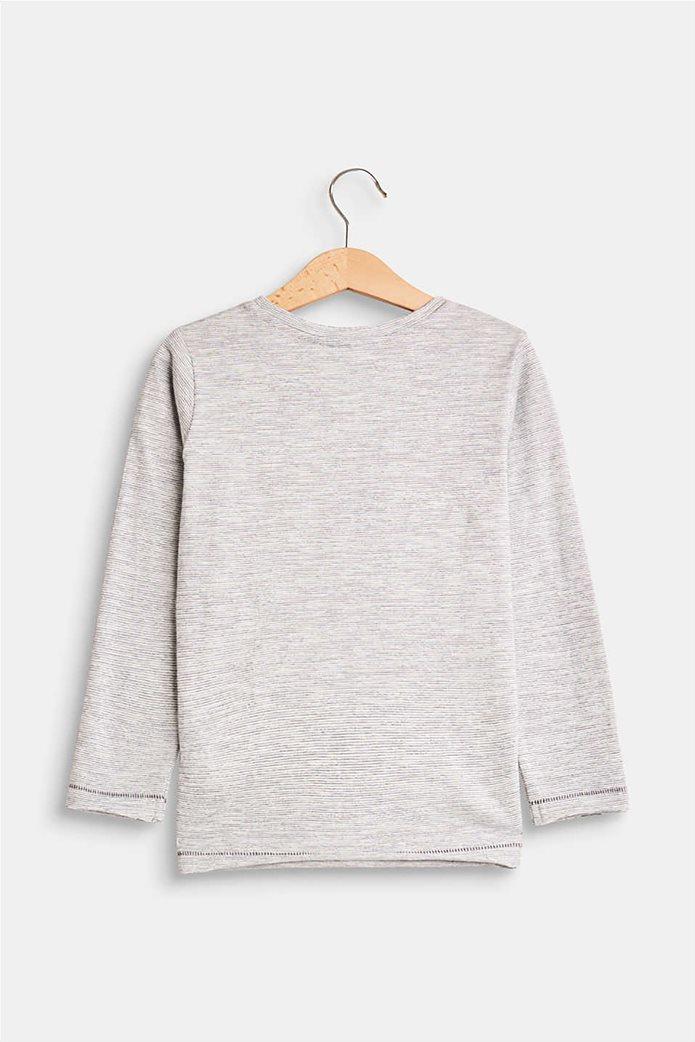 Esprit παιδικό μακρυμάνικο μπλουζάκι με logo print 3