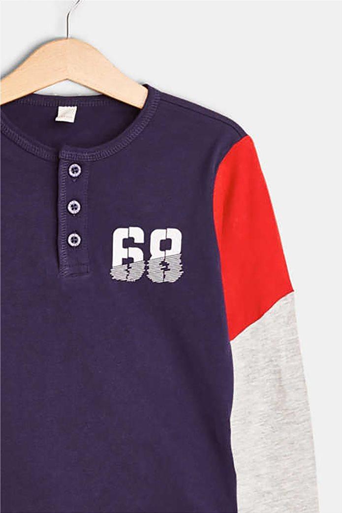 Esprit παιδικό μακρυμάνικο μπλουζάκι με κουμπιά και print 2