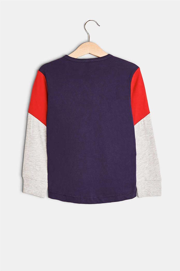 Esprit παιδικό μακρυμάνικο μπλουζάκι με κουμπιά και print 3