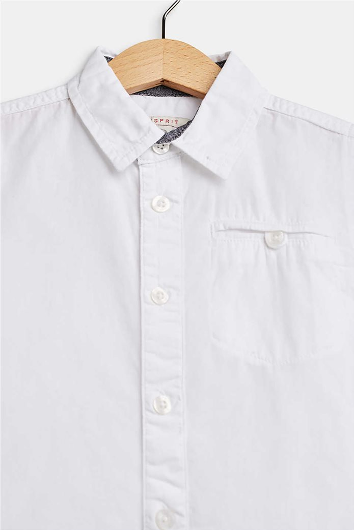 Esprit παιδικό μονόχρωμο πουκάμισο με τσέπη 1