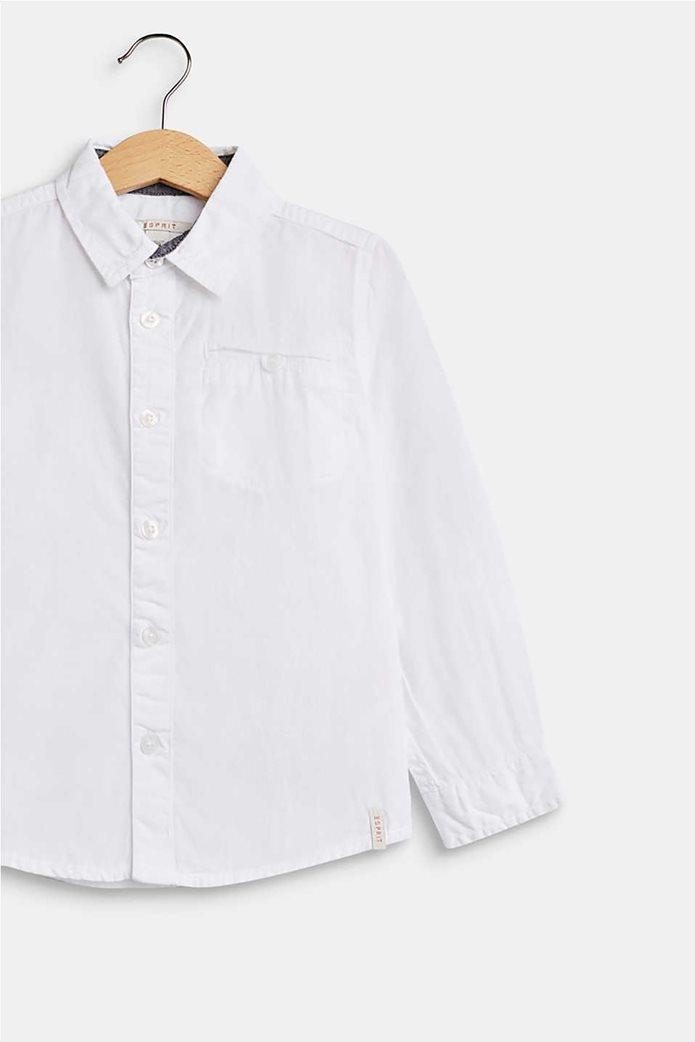 Esprit παιδικό μονόχρωμο πουκάμισο με τσέπη 2