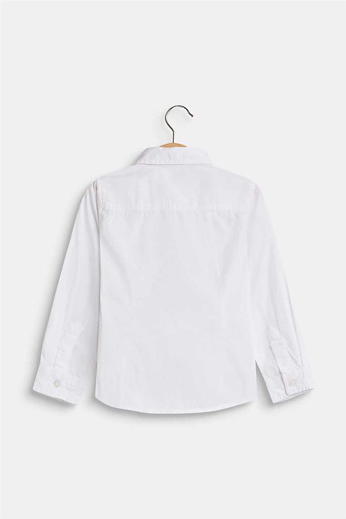 Esprit παιδικό μονόχρωμο πουκάμισο με τσέπη 3