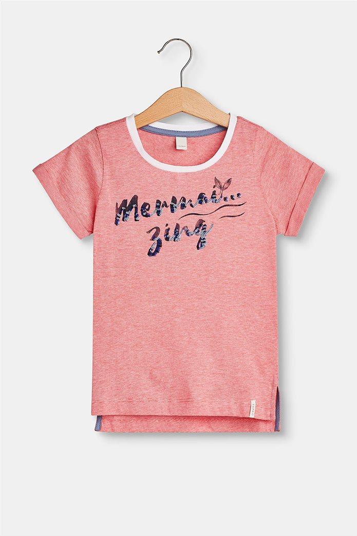 Παιδικό T-shirt με letter print (2-9 ετών) Esprit Κοραλί 0