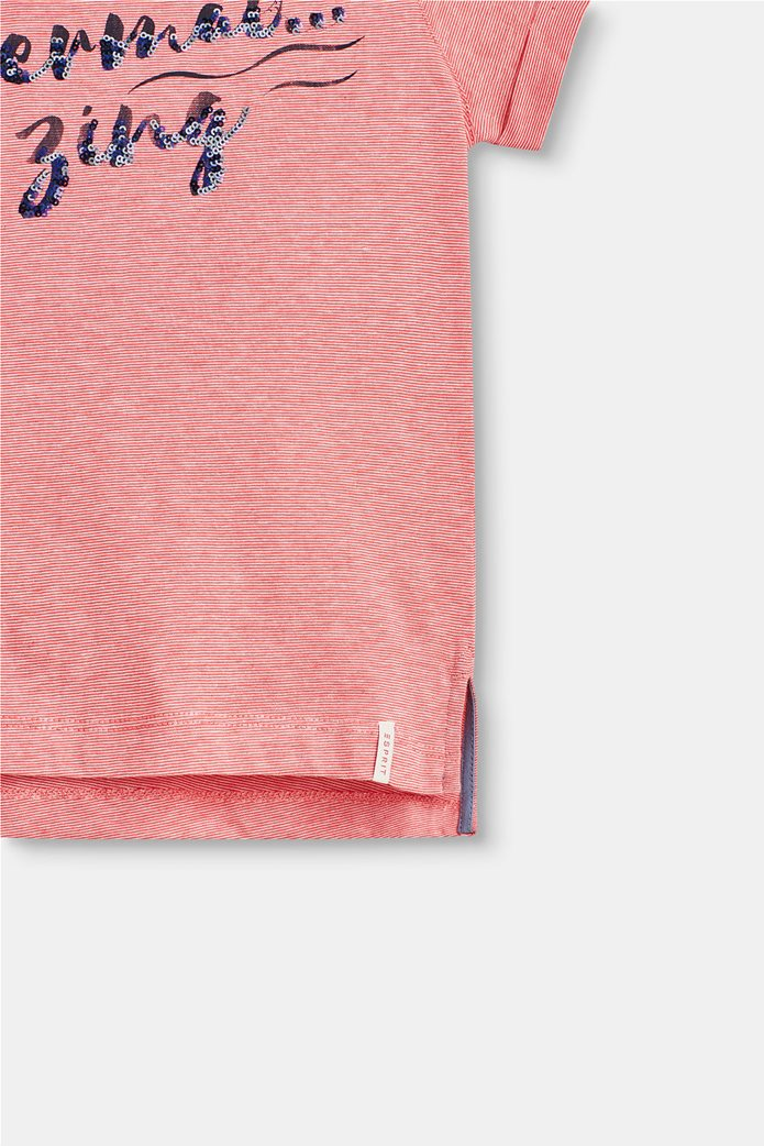 Παιδικό T-shirt με letter print (2-9 ετών) Esprit Κοραλί 1