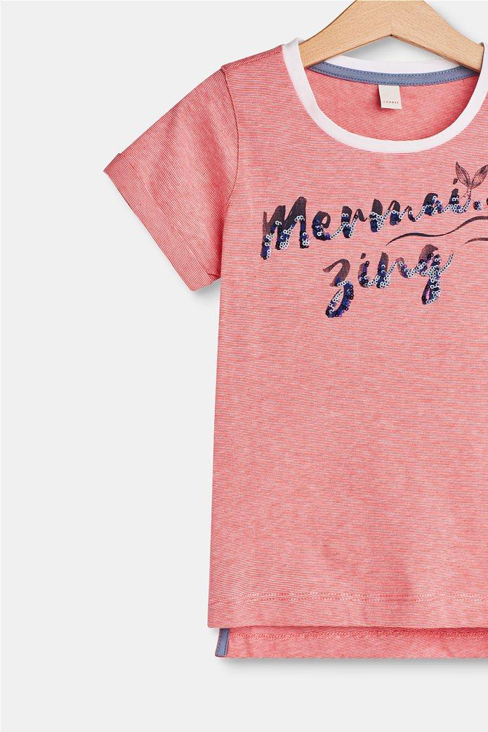 Παιδικό T-shirt με letter print (2-9 ετών) Esprit Κοραλί 2