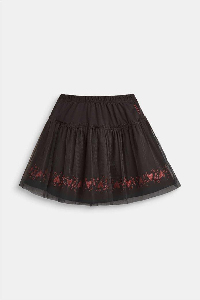 Esprit παιδική φούστα μονόχρωμη με λάστιχο και τούλι 0