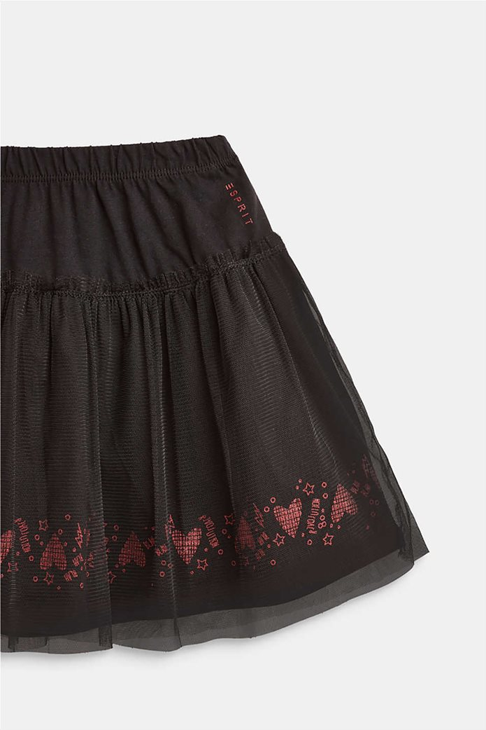 Esprit παιδική φούστα μονόχρωμη με λάστιχο και τούλι 2