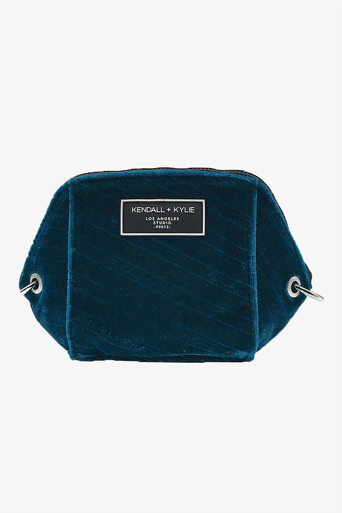 Kendall + Kylie γυναικείο βελούδινο mini bag crossbody 0