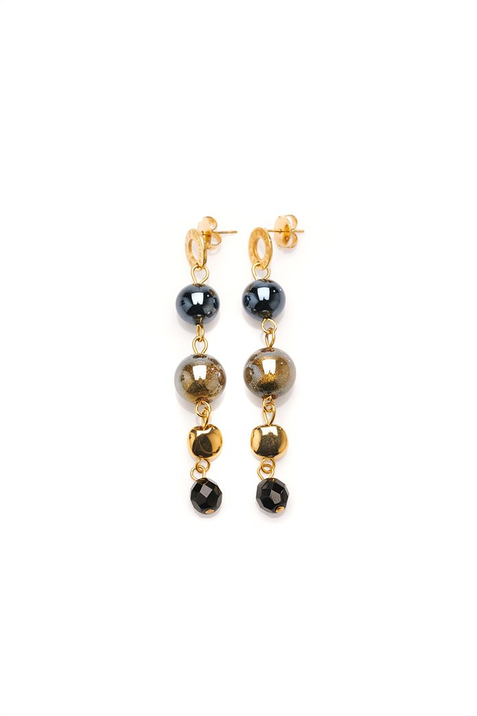 Antica Murrina γυναικεία κρεμαστά σκουλαρίκια Basic Crystallized Blossom 0