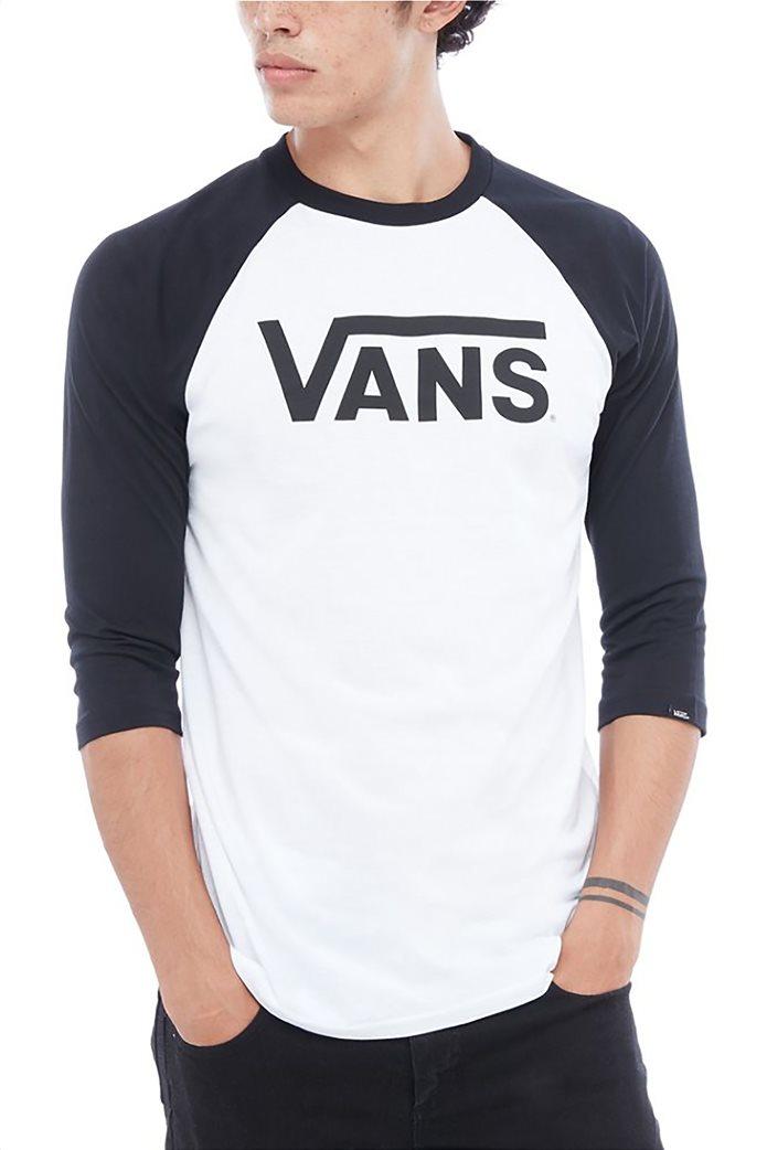 Vans ανδρική μπλούζα με μανίκια 3/4 Classic Raglan Μαύρο 0