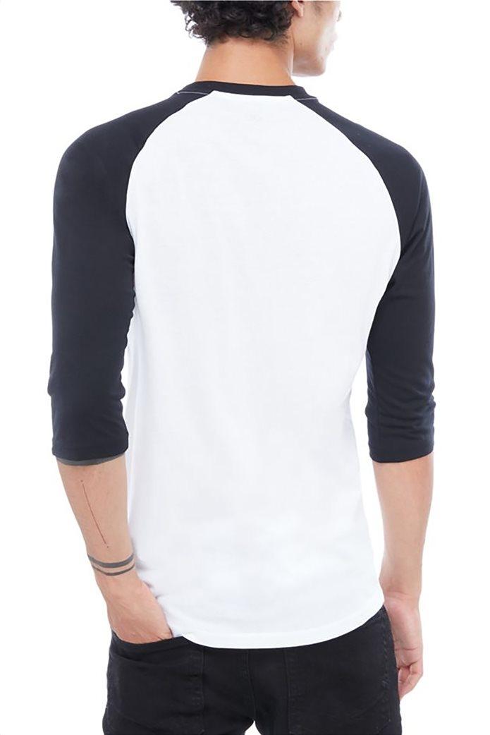 Vans ανδρική μπλούζα με μανίκια 3/4 Classic Raglan Μαύρο 1