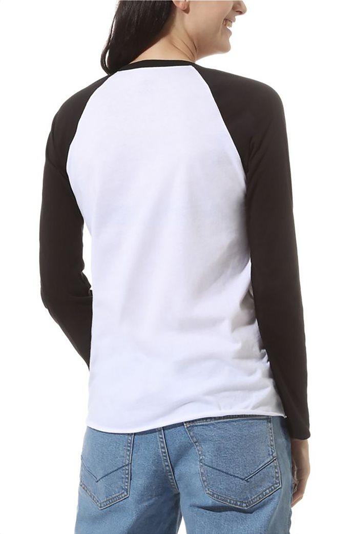 Vans Γυναικεία μπλούζα μακρυμάνικη Flying V Raglan Λευκό 1