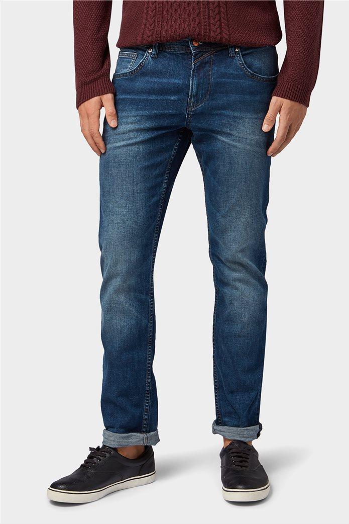 Tom Tailor ανδρικό τζην  παντελόνι πεντάτσεπο Slim fit Aedan 2