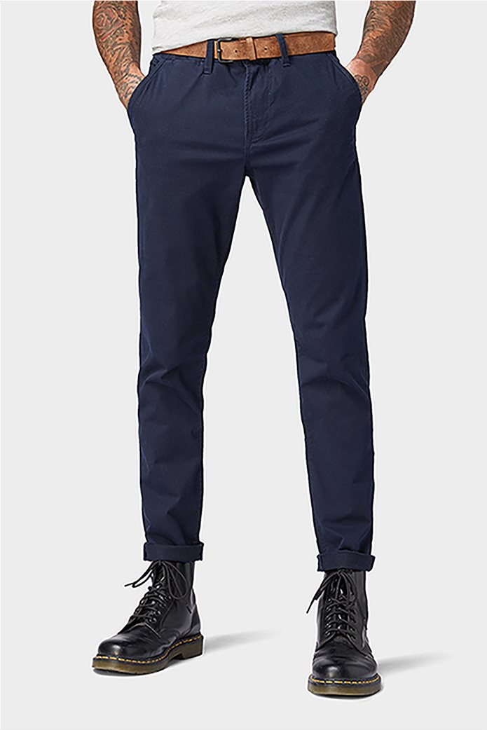 Tom Tailor ανδρικό παντελόνι chino με ζώνη 1