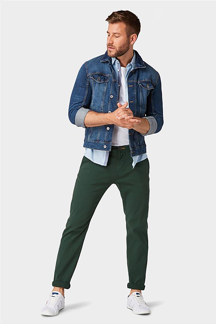 Tom Tailor ανδρικό chino παντελόνι μονόχρωμο 0