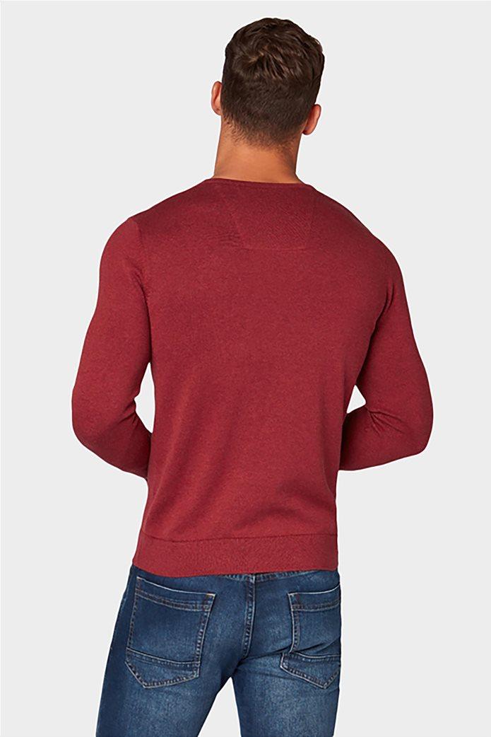 Tom Tailor ανδρική πλεκτή μπλούζα με V λαιμόκοψη 1