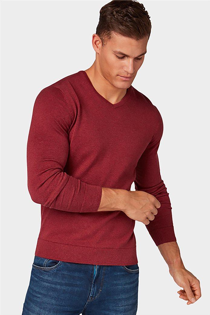 Tom Tailor ανδρική πλεκτή μπλούζα με V λαιμόκοψη 2