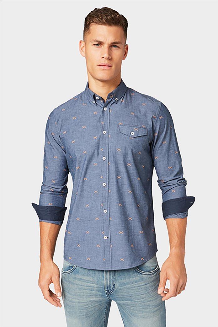 Tom Tailor ανδρικό πουκάμισο με μικροσχέδια 0
