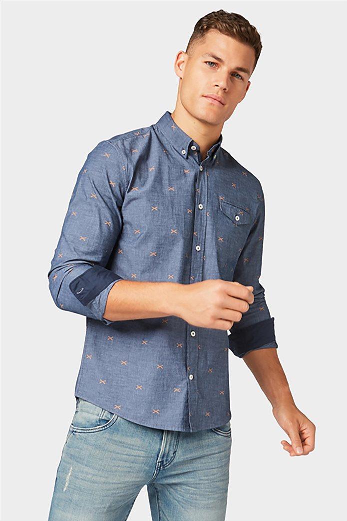 Tom Tailor ανδρικό πουκάμισο με μικροσχέδια 2