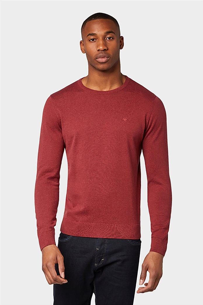 Tom Tailor ανδρική πλεκτή μπλούζα με στρογγυλή λαιμόκοψη 2