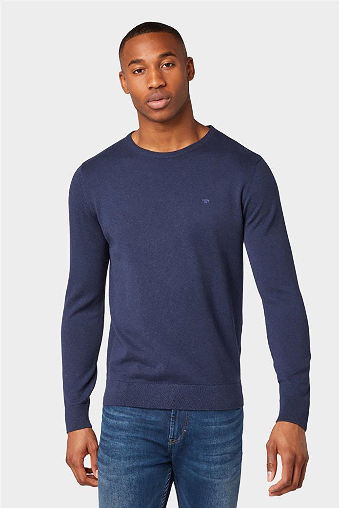 Tom Tailor ανδρική πλεκτή μπλούζα με στρογγυλή λαιμόκοψη 0